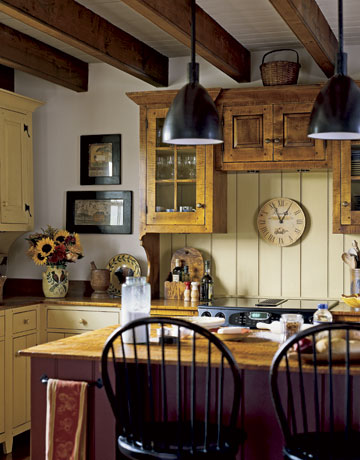 For A More Rustic Look, Emphasize Raw Wood Over Painted, But Remember That Too Much Can Make The Room Seem Dark