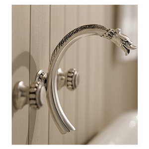 Herbeau 2247 Pompadour Collection Wall-Mounted Non-Diverter Tub Spout, Less Valve