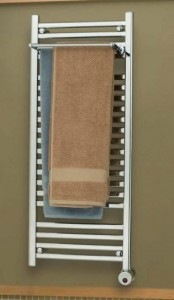 Mr Steam Steambaths White Wallmount Electric Towel Warmer W248