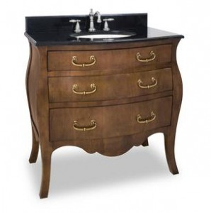 French Regency Vanity with Preassembled Top and Bowl by Lyn Design