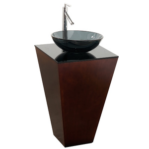 Esprit Custom Bathroom Pedestal Vanity Set - Espresso - Wyndham Collection