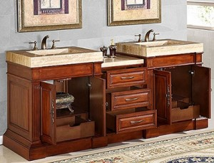 Silkroad Exclusive HYP-0219-T-2 Double Vanity