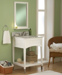 Sagehill Designs Bathroom Vanity Cabinet with Open Shelf from the Seaside Collection