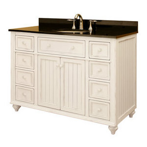 sagehill vanities, cottage style bathroom vanities, white bathroom