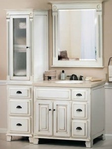 Sagehill Designs Vanity Cabinet with Three Drawers and Two Doors from the Victorian Collection