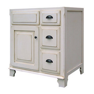 Sagehill Designs Vanity Cavinet With One Door And Two Drawers From The Victorian Collection