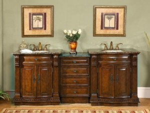 Silkroad Exclusives HYP-0206-84 Double Vanity