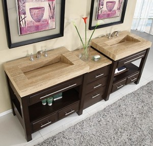 Silkroad Exclusives HYP-0218-92 Double Vanity