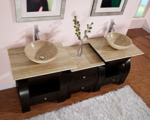 Silkroad Exclusives HYP-0908N-77 Double Vanity