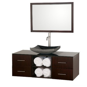 Abba 48 Inch Coffee Vanity Set