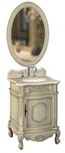 Antique Parchment Single Vanity From Belle Foret