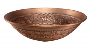Artisan Copper Grape Vine Vessel Sink