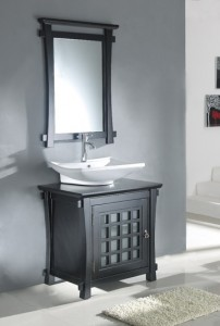 Asian Inspired 30 Inch Bathroom Vanity From Legion Furniture