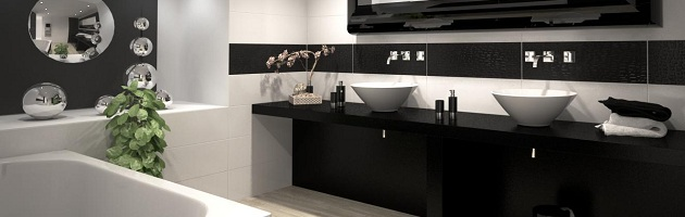 How To Design Your Very Own Beautiful Black And White Bathroom