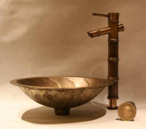 Brass Vessel Sink And Faucet From Legion