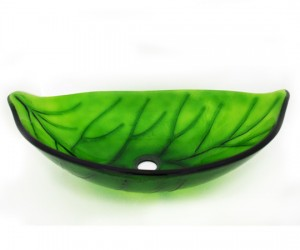 Marvelous Green Leaf Vessel Sink From Legion