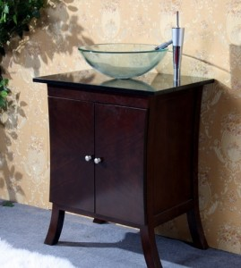 Legion Asian Inspired Single Vanity With Vessel Sink