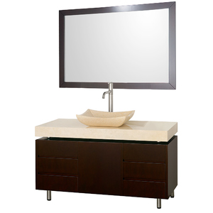Malibu 48 Inch Bathroom Vanity Set In Espresso