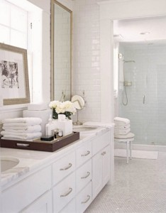 Mimicking The Clean, Airy Feel Of Resort Spas, This Bathroom Stays Out Of The Realm Of Sterile By Utilizing A Variety Of Patterns And Textures
