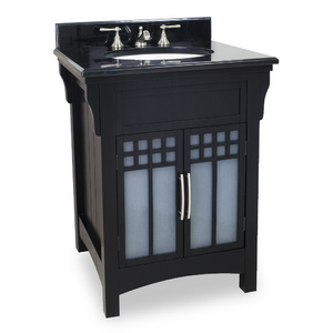 Ming Modern Vanity With Frosted Glass By Hardware Resources