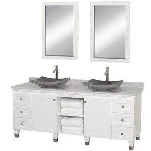 Premiere 72 Inch Double Bathroom Vanity In White