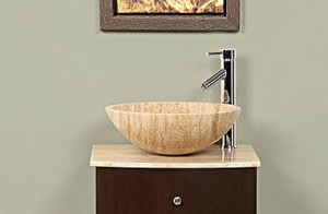 Silkroad Exclusive Travertine Lavatory Vessel Sink