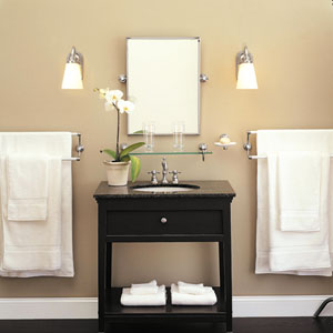 Simple Yet Stylish, These Bright White Basic Wall Sconces Will Give You All The Light You Need To Groom