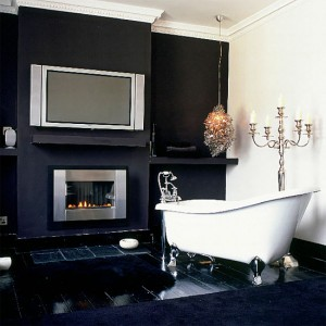 The Multiple Textures Of The Different Shades Of Black In This Bathroom Really Help Create A Sense Of Depth