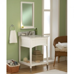 This Seaside White Vanity Pairs Excellently With A Wide Range Of Colors - Just Make Sure It Catches A Little Natural Light For The Full Effect