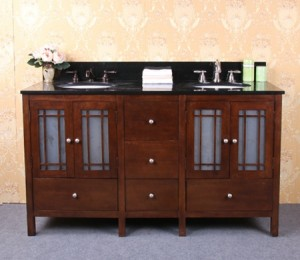 Traditional Asian Style Double Vanity