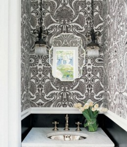 Very Thin Lines Are More Busy Than Bold, And Can Make Your Bathroom Look Cluttered