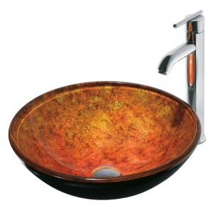 Vigo Livorno Glass Vessel Sink