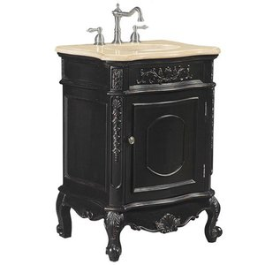 Antique Inspired Hand Rubbed Black Vanity From Belle Foret