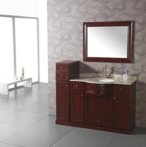 Genial Cherry Wood Contemporary Vanity WA3003