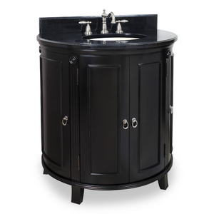 Demi Lune Traditional Black Vanity