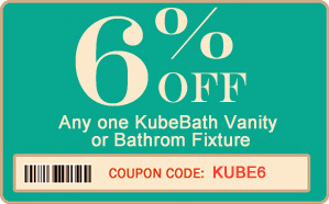 6% off KubeBath Vanity, Bath tub or other fixture