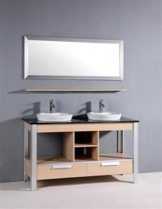 Minimalist Modern Double Vanity