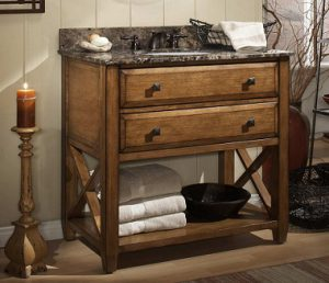 Sagehill Designs Casual Elements Collection Solid Wood Bathroom Vanity