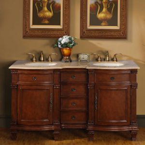 Silkroad Exclusive Traditional Double Vanity HYP-0722-60