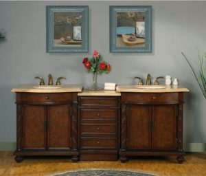 Traditional Double Vanity JYP-0193-TL-84