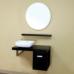 Asymmetrical Wall Mounted Bathroom Vanity From Bellaterra Home