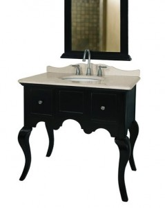 Black Console Vanity From Belle Foret