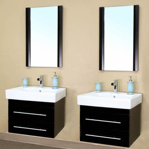Black Dual Wall Mount Vanities From Bellaterra Home