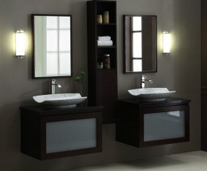 Blox 30 Inch Vanity With Frosted Glass Drawer From Xylem