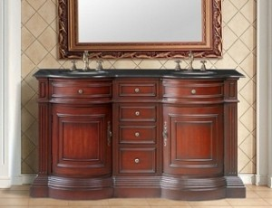 Catherine Double Sink Vanity With Black Galaxy Granite Top