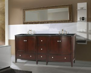 Corona Double Sink Vanity With Black Galaxy Granite Top