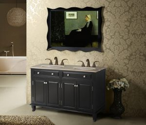Seville Double Bathroom Vanity With Perlato Sicilia Marble Top