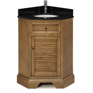 Palmetto Corner Vanity In Driftwood From Pegasus