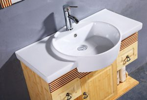 Spa Style Bamboo Wood Wall Mounted Bathroom Vanity From Legion Furniture