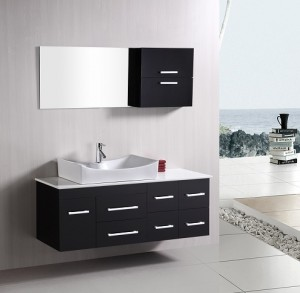 Springfield 55 Inch Wall Mounted Bathroom Vanity From Design Element